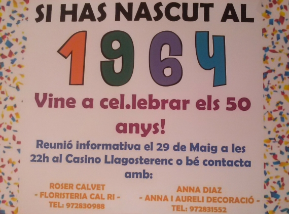 Fas 50 anys aquest any?