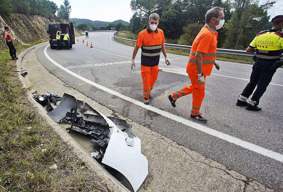 Accident mortal amb un motorista a Llagostera